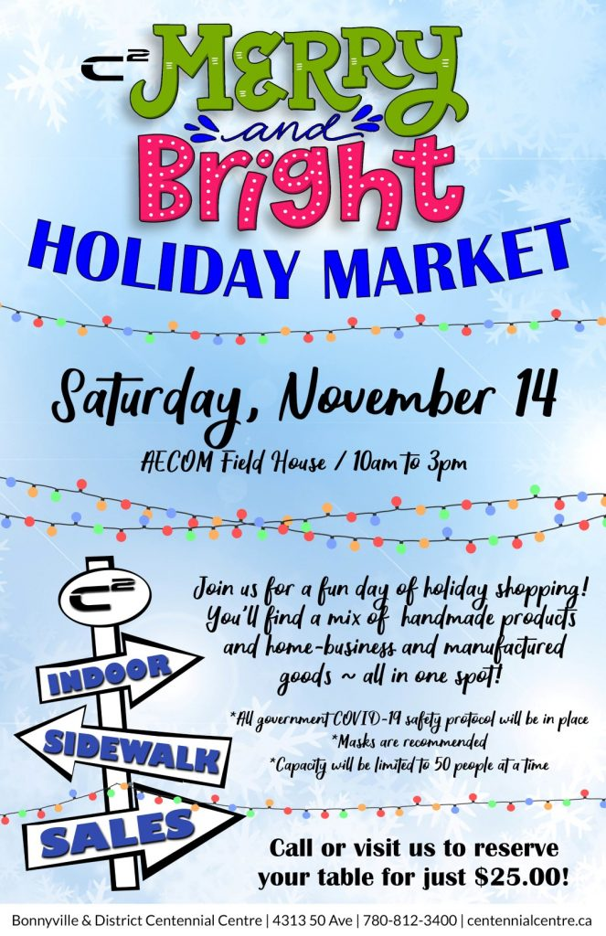 holiday craft market in bonnyville
