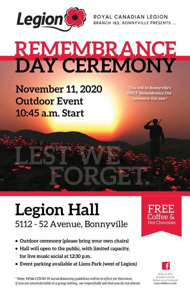 Remembrance Day in Bonnyville